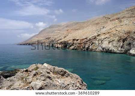Hora-Sfakia. Greece. the island of Crete.