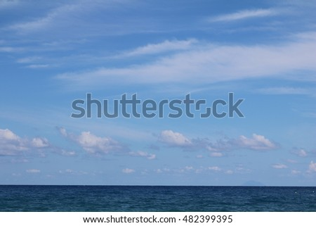 Horizon between sea and sky