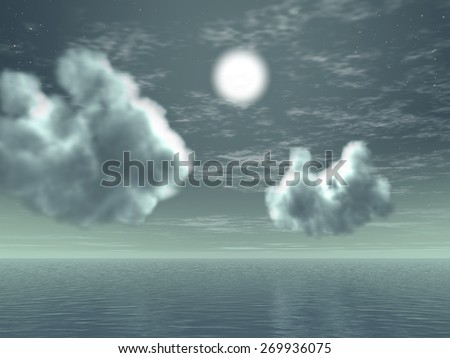 Horizon (Clouds, Sky and Sea) - Digital Rendering