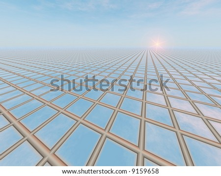 Horizon Grid Background