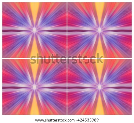 Horizon lights. Energy, aura, chakra, meditation. Seamless abstract blur background pattern. Light blue abstract wallpaper background. Flash - rays of light in the space of the sky. Radiance of light. - stock photo