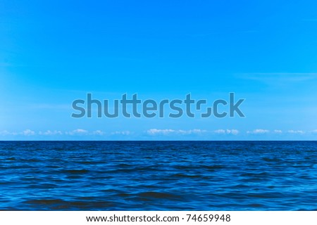 Horizon line - between sky and water - stock photo