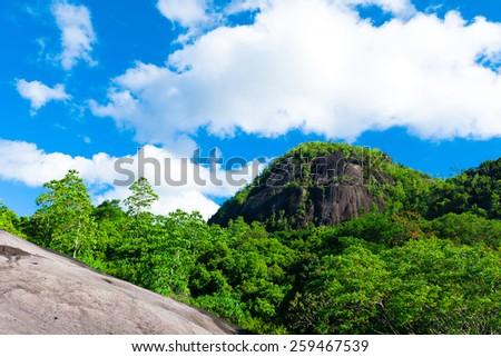 Horizon Sea Mountain  - stock photo