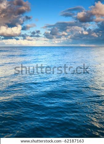 Horizon  sea sky, storm, tempest, sky clouded over - stock photo