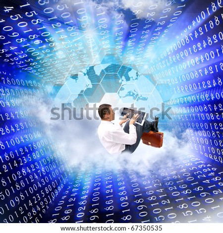 Horizons of the newest the Internet of technologies in the future will open for modern business - stock photo
