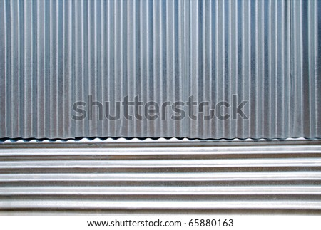 Horizontal and vertical corrugated iron .