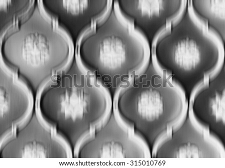Horizontal black and white blurred abstract wall pattern background