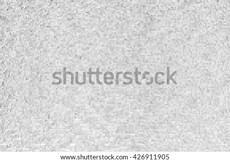 Horizontal black and white extruded cubes illustration background - stock photo
