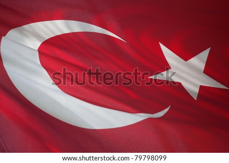 horizontal close up of turkey flag