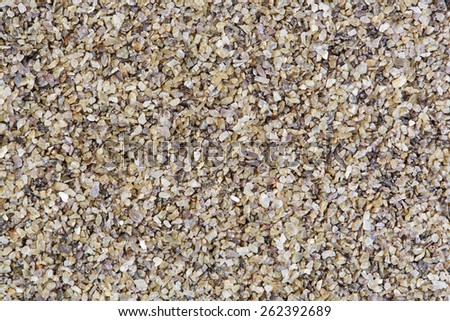 Horizontal gravel texture from quartz stones. - stock photo