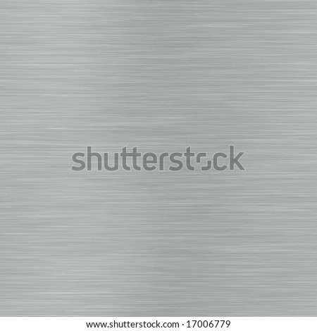 horizontal lined brushed metal surface that can be seamlessly tiled - stock photo