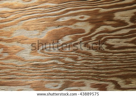 horizontal of old worn plywood background with grained texture - stock photo