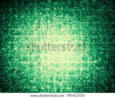 Horizontal olive green 3d cube extruded blocks abstract background - stock photo