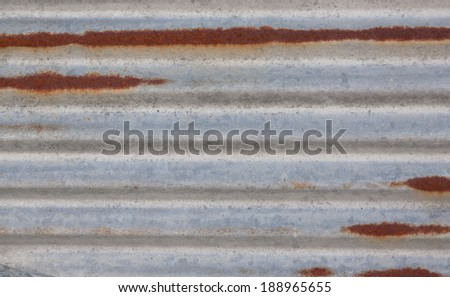 horizontal orientation close up of an old, worn, metal panel with rust spots and copy space / Rusty Background - Horizontal - stock photo