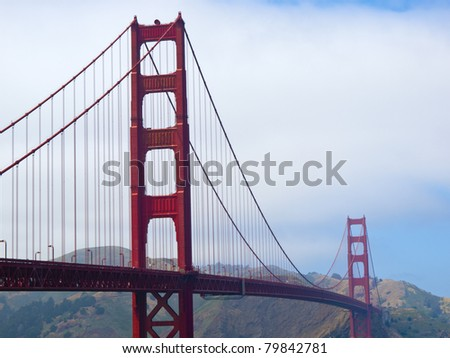 Horizontal shot of San Francisco's most famous landmark
