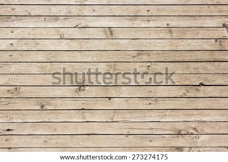 Horizontal striped wooden used surface - stock photo