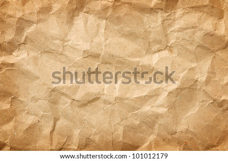 horizontal texture of crumpled packaging paper - stock photo