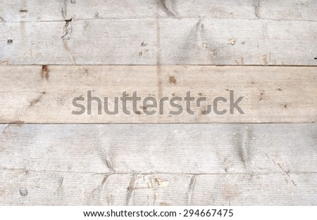 Horizontal texture or background of hewn multicolored  boards. - stock photo