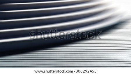 Horizontal vibrant white business stairs motion blur abstraction background - stock photo