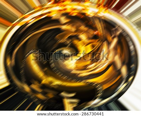 Horizontal vivid cinema sphere blurred abstraction background backdrop - stock photo