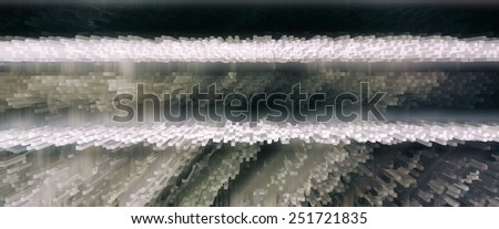 Horizontal vivid 3d extrude cube business abstraction background backdrop - stock photo