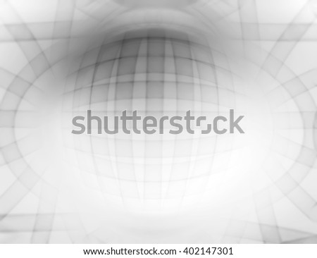 Horizontal white 3d sphere abstract illustration background