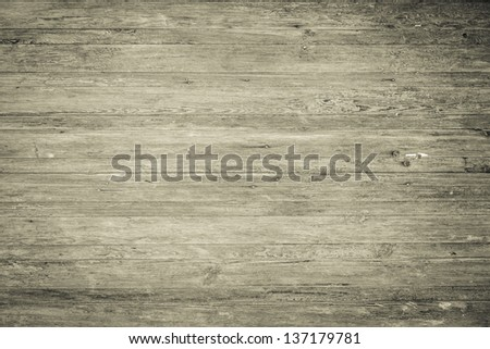 Horizontal wood plank background - stock photo