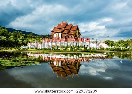 horkumluang  in  the royal flora  garden chiangmai Thailand - stock photo