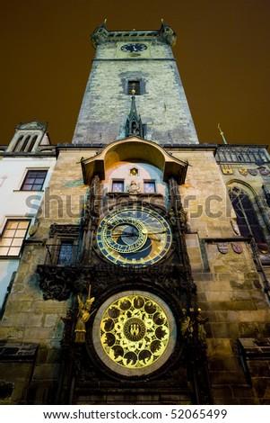 Horloge, Old Town Hall, Prague, Czech Republic - stock photo