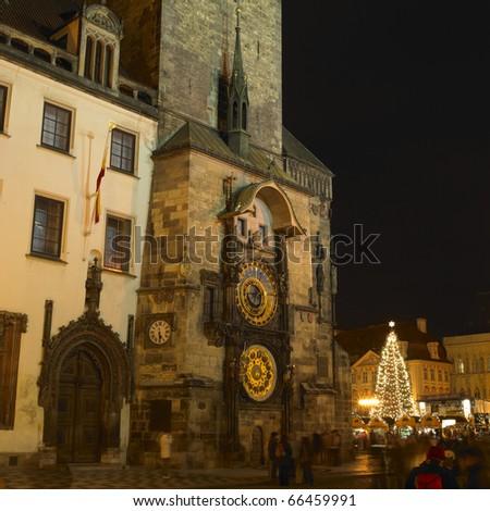 Horloge, Old Town Square, Prague, Czech Republic - stock photo