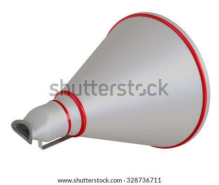 Horn. Three-dimensional illustration of the horn. Isolated