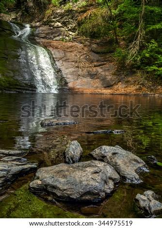 Hornbeck Creek Falls in Delaware Water Gap National Recreation Area - stock photo