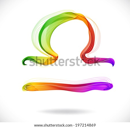 Horoscope: abstract color sign of the zodiac - Libra, beautiful illustration - stock photo