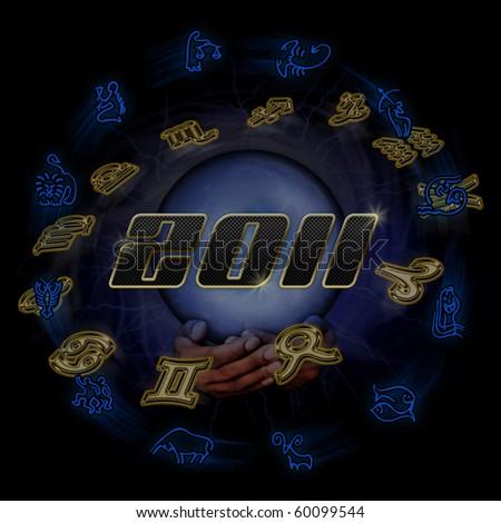 Horoscope sign - stock photo