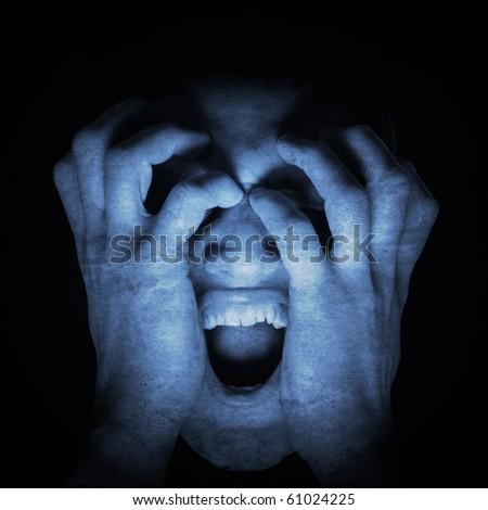 horror - stock photo