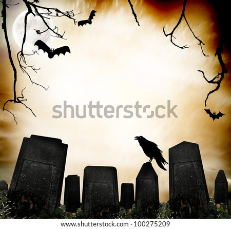 Horror background - stock photo