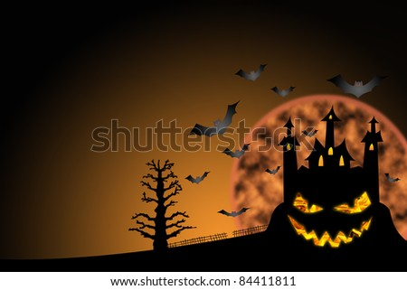 horror castle halloween background