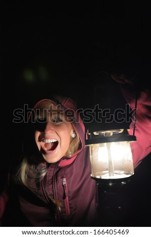 Horror girl - stock photo