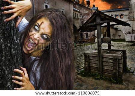 Horror Scene. - stock photo