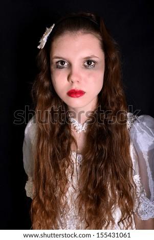 Horror Scene of a Scary Woman - Bride - stock photo