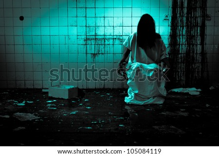 Horror Scene of Scary Woman