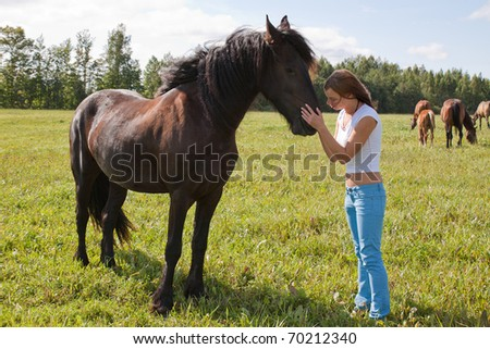 Horse and girl