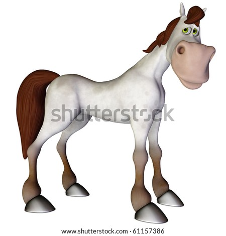 Horse Cartoon horse cartoon sad