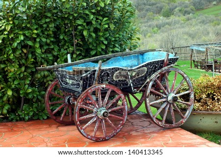 horse drawn carriage/horse drawn carriage in north Greece