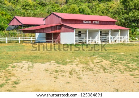 Horse farm - stock photo