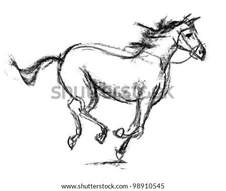 Horse. Hand-drawn - stock photo