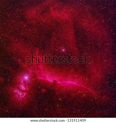 Horse Head nebula - stock photo