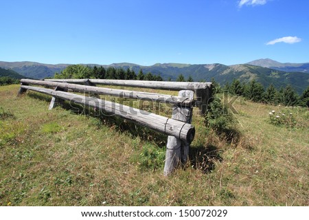 horse jump obstacles - stock photo