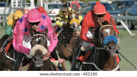Horse- racing - stock photo