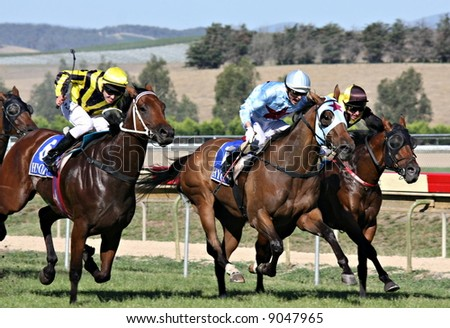 Horse Racing - stock photo